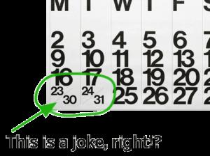 demonstration calendar