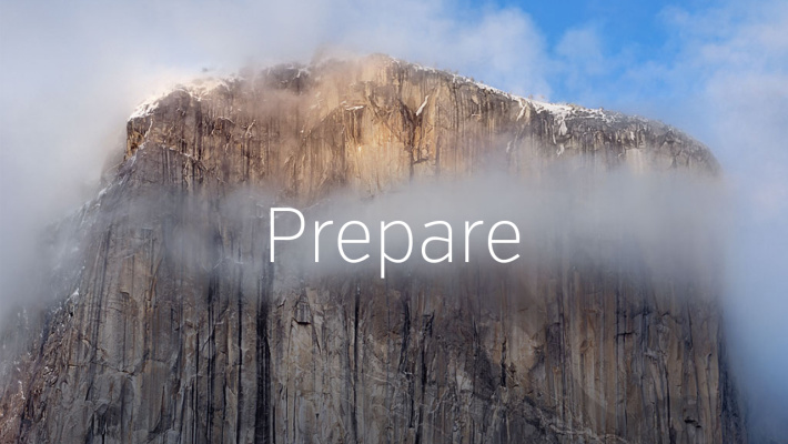 Prepare for Yosemite