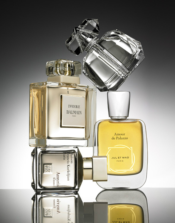 Perfume bottles still life