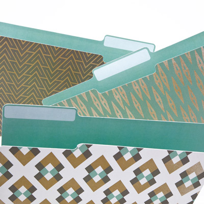 Metallic patterns and other interesting folder designs from See Jane Work