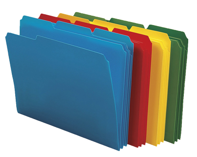 Coloured folders