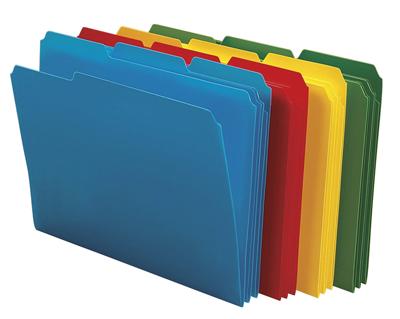 Coloured folders