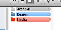 Coloured folders on the Mac