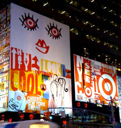 Laurie Rosenwald for Target, in Times Square, NYC