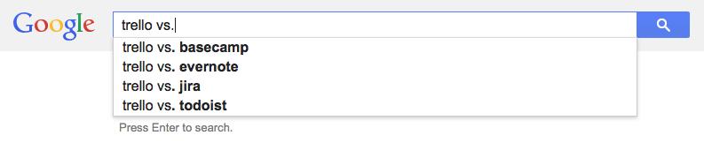 Alternatives to Trello, according to the Google
