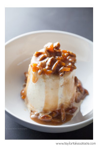 Peach Pecan Sundae, photographed by Taylor Mathis