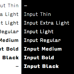 input font family