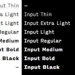 input font family