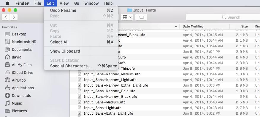 Input Mac screenshot