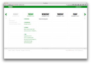TeuxDeux is a site to keep track of your daily to-do items