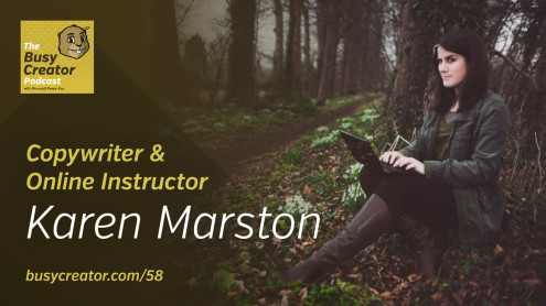 The Busy Creator 58 w/guest Karen Marston