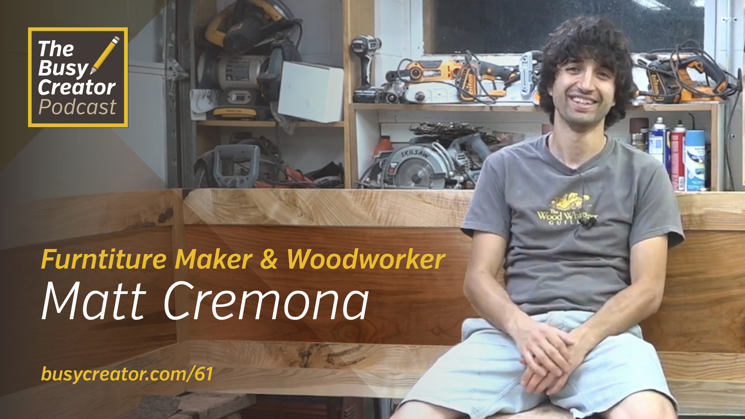 Woodworker & Furniture Maker Matt Cremona Discusses Self-Teaching and Making a Solo Video Show