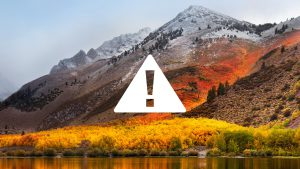 Prepare with Purpose for macOS High Sierra