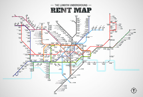 London Underground Rent Map