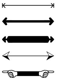 InDesign arrows.