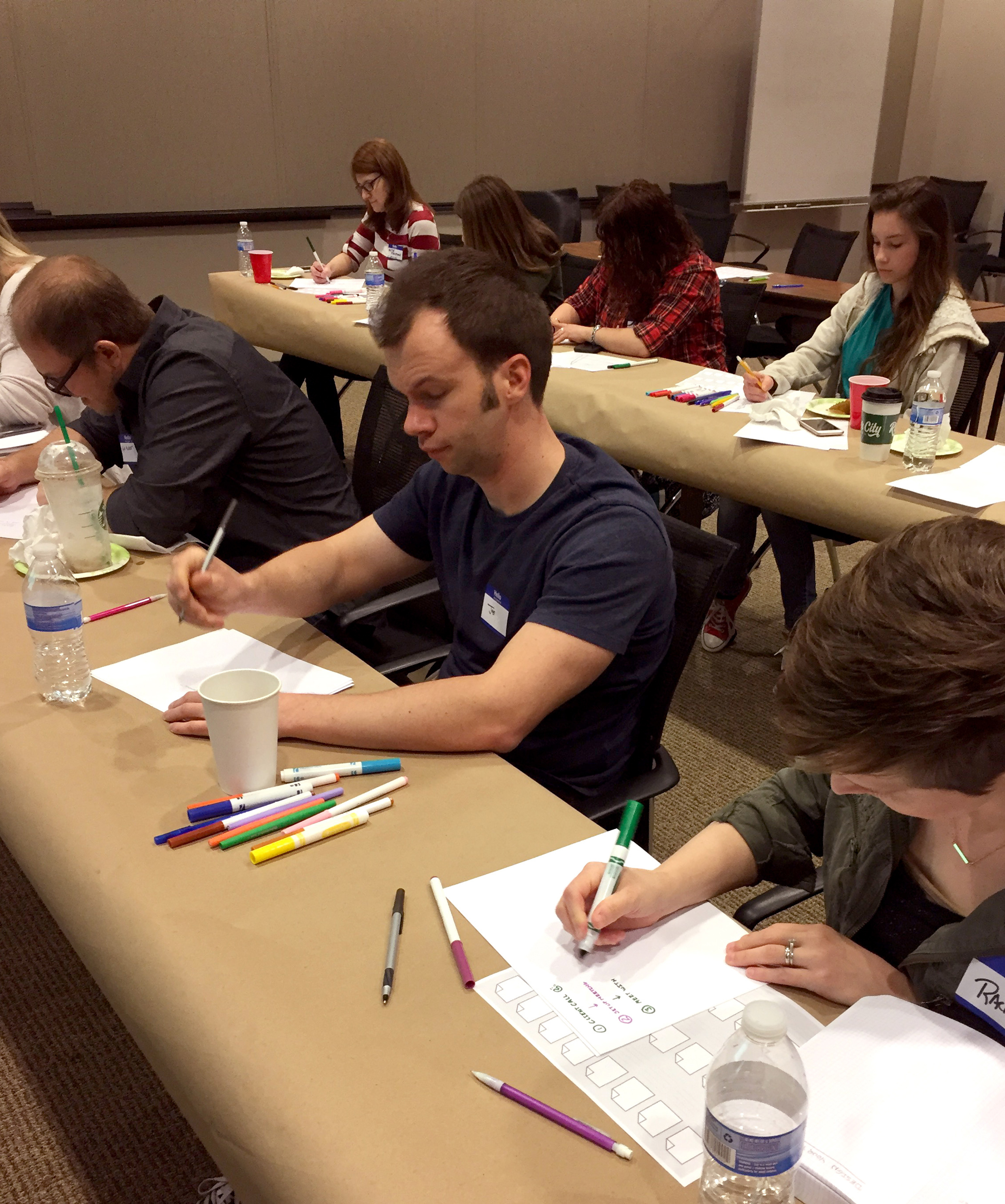 Workshop attendees craft their process & method