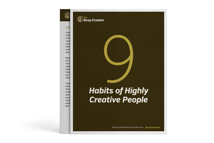 9 Habits of Highly Creative People